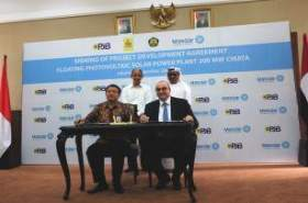 Masdar and Indonesia company sign deal for largest floating solar PV plant
