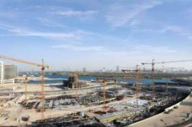 NFT Specialized in Tower Cranes installs 13 cranes for Reem Mall in Abu Dhabi