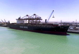 Iraqi port receives largest container vessel