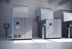Atlas Copco's oil-injected screw compressor reduces energy consumption