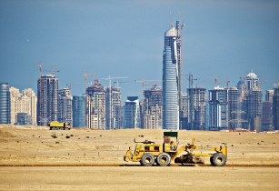 Dubai Jumeirah Lake Towers Under Construction