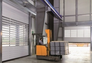 Hormann new spiral high speed door HS 7030 Middle East - EDIT
