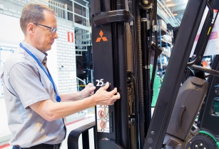 Mitsubishi releases special edition warehouse and forklift trucks for silver jubilee