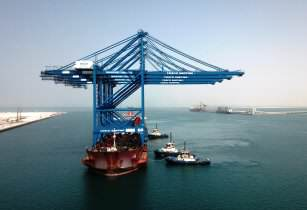 Khalifa Port receives first batch of ARMG and STS cranes for