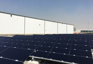 Work in progress for Cat and Al-Bahar's first regional solar facility in Dubai