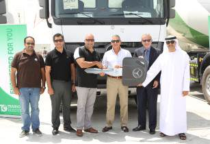 EMC delivers 50 Mercedes-Benz trucks readymix firm in UAE